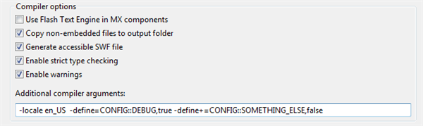 Compiler Arguments